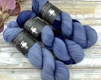Undercurrent | Non-Superwash Merino Wool | Hand-Dyed Yarn | Fingering Weight