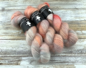 Peaches and Cream | Mohair Silk | Hand Dyed Yarn