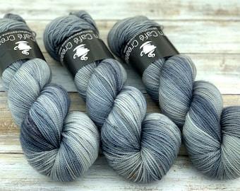 2-ply Fingering Weight   Atmosphere   Hand Dyed Yarn   Superwash Merino Wool