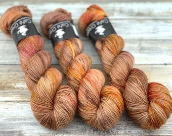 Silver Stellina | Maple | Hand Dyed Yarn | Superwash wool