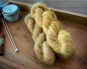 Roasted Pumpkin | Mohair Mulberry Silk | Hand Dyed Yarn