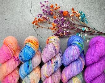 Rainbow Dash Collection Fade Kit   Superwash Wool   Five Skein Kit