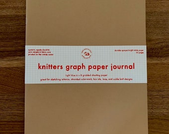 Knitters Graph Paper Journal |