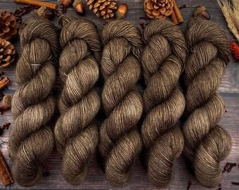 Merino/Mohair Blend SW Fingering Weight | Allspice | Hand Dyed Yarn | Superwash wool