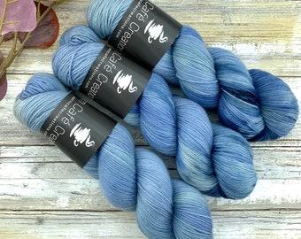 Fingering Weight | Saltwater | Non-Superwash Merino Wool | Hand-Dyed Yarn