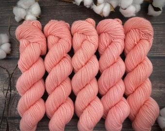 2-ply Fingering Weight   Grapefruit   Hand Dyed Yarn   Superwash Merino Wool