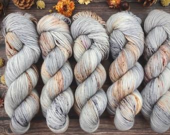 Biscotti Sock   85/15 SW Merino/Wool Sock Weight  THICKET   Hand Dyed Yarn   Superwash wool