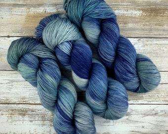 Saltwater | Hand Dyed Yarn | Superwash yarn