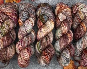 Polwarth Fingering Weight | Autumn Leaves | Hand Dyed Yarn | Superwash Polwarth