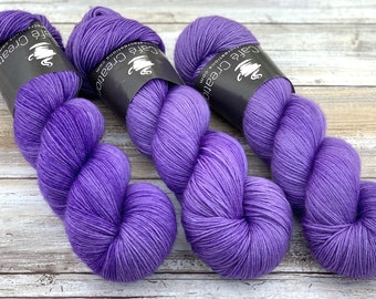 85/15 SW Merino/Wool Sock Weight| Sugared Butterfly Wings | Hand Dyed Yarn | Superwash wool