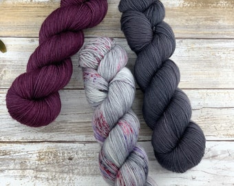 STUDIO 54 SHAWL KIT Size A | Set G | Hand-Dyed Yarn