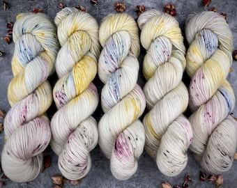 Polwarth Fingering Weight | Dried Rose Petals | Hand Dyed Yarn | Superwash Polwarth