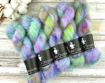 Blueberry Muffin   Mohair Silk   Hand Dyed Yarn