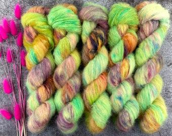 Suri Alpaca/Silk   Lime Chiffon   Hand Dyed