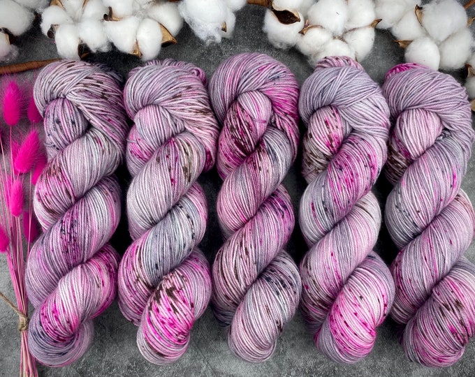 Featured listing image: Espresso Fingering Weight   100% SW Merino   Dragon Fruit Mojito   Hand Dyed Yarn