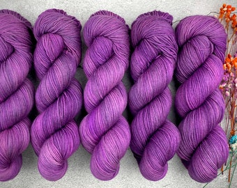 Polwarth DK Weight   100% SW Polwarth Wool   Element of Laughter   Pinkie Pie Collection   Hand Dyed Yarn  