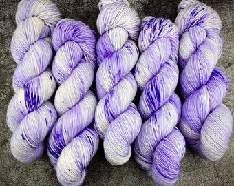 PRE-ORDER Biscotti Sock   85/15 SW Merino/Wool Sock Weight   Phantom   Hand Dyed Yarn   Superwash wool   Classic Halloween Collection