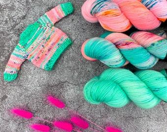 Pinkie Pie Fade Kit | Superwash Merino Wool | Three Skein Kit