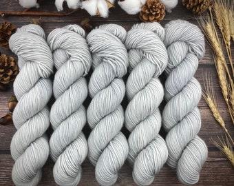 Americano DK Weight | 100% SW Merino Wool | White Pepper | Hand Dyed Yarn | Superwash wool