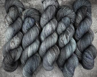 Polwarth Fingering Weight   100% Superwash Polwarth Wool   After Dark    Classic Halloween Collection   Hand Dyed Yarn