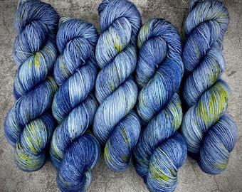 Biscotti DK Weight   85% SW Merino Wool/15 Nylon   Haunted House   Classic Halloween Collection   Hand Dyed Yarn