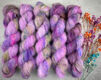 Suri Alpaca/Silk   Huckleberry Pie   Hand Dyed