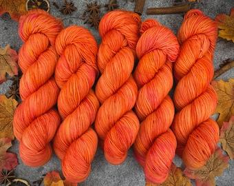 Biscotti Sock | 85/15 SW Merino/Wool Sock Weight| MIMOSA | | Hand Dyed Yarn | Superwash wool