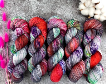 2-ply Fingering Weight | Purple Pie Man | Hand Dyed Yarn | Superwash Merino Wool
