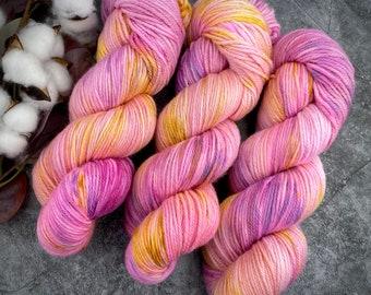 DK Weight   Raspberry Torte   Non-Superwash Merino Wool   Hand-Dyed Yarn