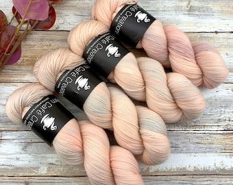 Fingering Weight | Peaches and Cream | Hand Dyed Yarn | Non-Superwash Merino Wool