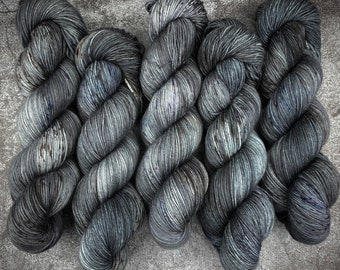 Biscotti DK Weight   85% SW Merino Wool/15 Nylon   After Dark   Classic Halloween Collection   Hand Dyed Yarn