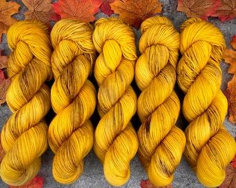 Biscotti Sock | 85/15 SW Merino/Wool Sock Weight| Warm Ginger | Hand Dyed Yarn | Superwash wool
