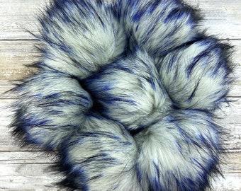 Sapphire   Pom Pom   Snap on Pom Pom   Faux Fur Pompom