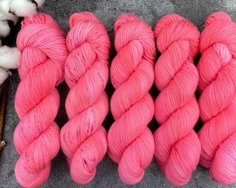 Worsted Weight | Pink Petunia | Hand Dyed Yarn | Superwash wool | Pinkie Pie Collection