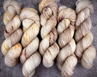 PRE-ORDER Biscotti Sock   85/15 SW Merino/Wool Sock Weight  Scarecrow   Hand Dyed Yarn   Superwash wool   Classic Halloween Collection
