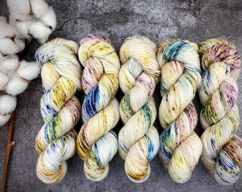 Glacé Silver Stellina   Orchard   Hand Dyed Yarn   Superwash wool   4-ply