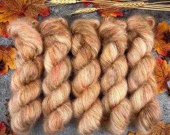 Oak   Mohair Silk   Hand Dyed Yarn