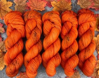 Biscotti Sock | 85/15 SW Merino/Wool Sock Weight| Spicy Citrus | Hand Dyed Yarn | Superwash wool