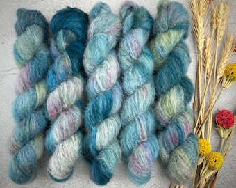 Suri Alpaca/Silk   September Storm   Hand Dyed
