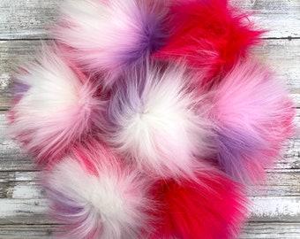 Gumball   Pom Pom   Snap on Pom Pom   Faux Fur Pompom