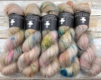 Peach Blossom | Hand Dyed Yarn | Mohair Silk