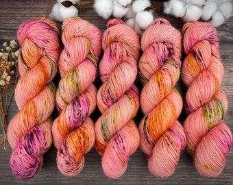Veranda BFL DK Weight | 100% SW Blue-Faced Leicester Wool | Orange Blossom | Hand Dyed Yarn | Superwash wool