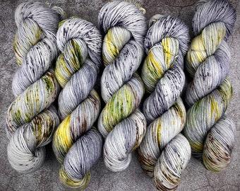 Biscotti DK Weight   85% SW Merino Wool/15 Nylon   Fairy Cat   Classic Halloween Collection   Hand Dyed Yarn