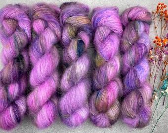 Mohair Silk   Huckleberry Pie   Hand Dyed