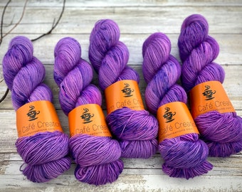 Worsted Weight   Hannibal Lecter   Hand Dyed Yarn   Superwash wool