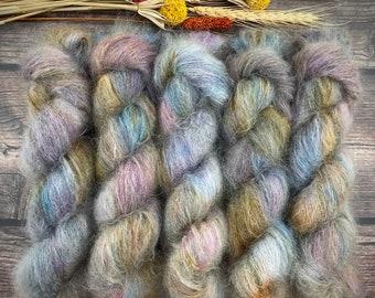 Boozy Hot Wassail   Mohair Silk   Hand Dyed Yarn