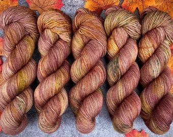 Biscotti Sock | 85/15 SW Merino/Wool Sock Weight| Hot Cider Nog | Hand Dyed Yarn | Superwash wool