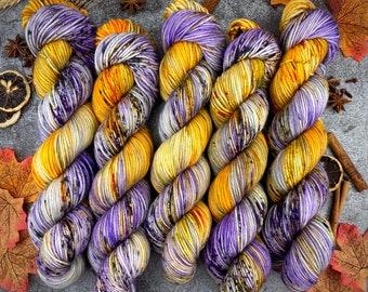 Americano DK Weight   100% SW Merino Wool   Ghostface   Hand Dyed Yarn   Superwash wool