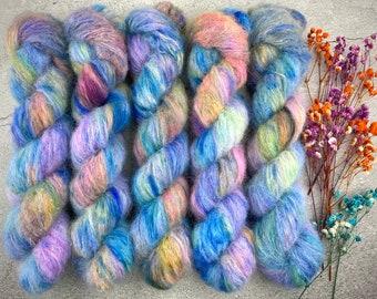 Suri Alpaca/Silk   Wonderbolts   Hand Dyed