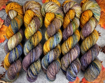 Worsted Weight | Spiked Gingerbread Coffee | Hand Dyed Yarn | Superwash